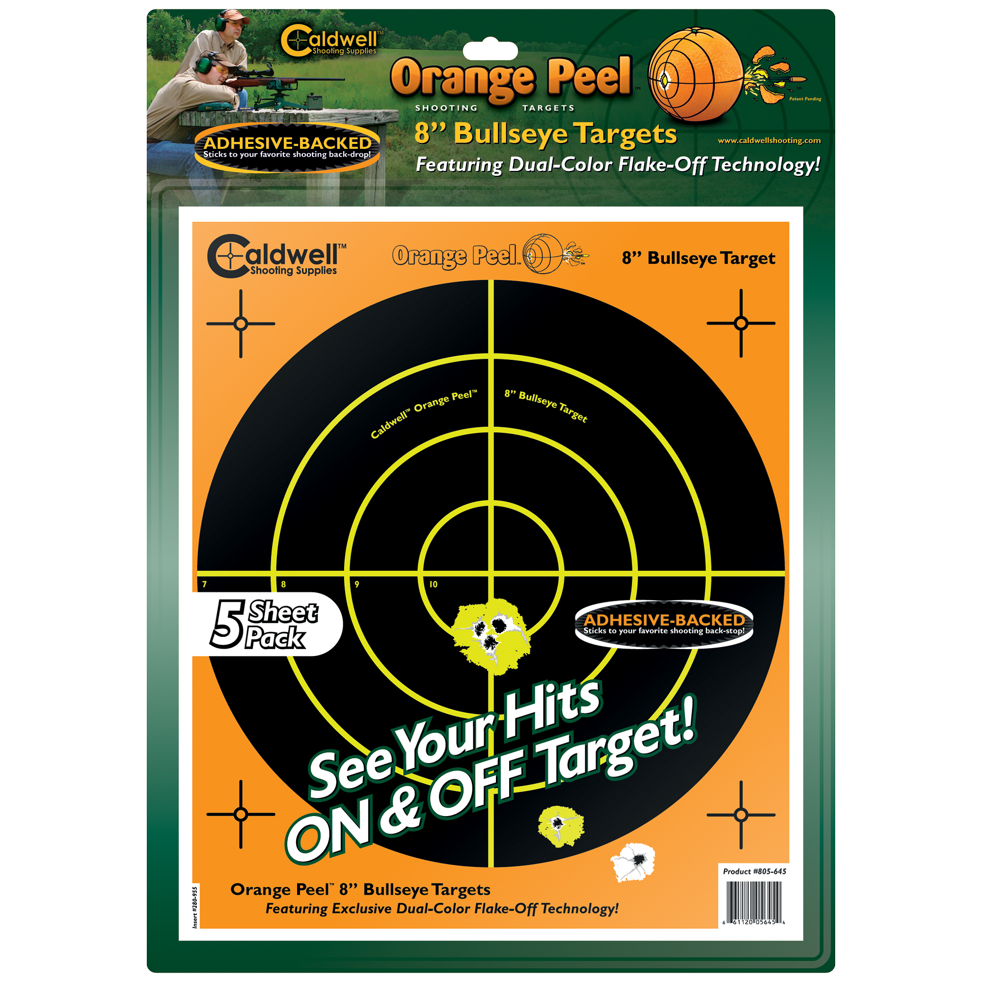 "Caldwell Ornge Peel Bulls-eye 8""(5)"