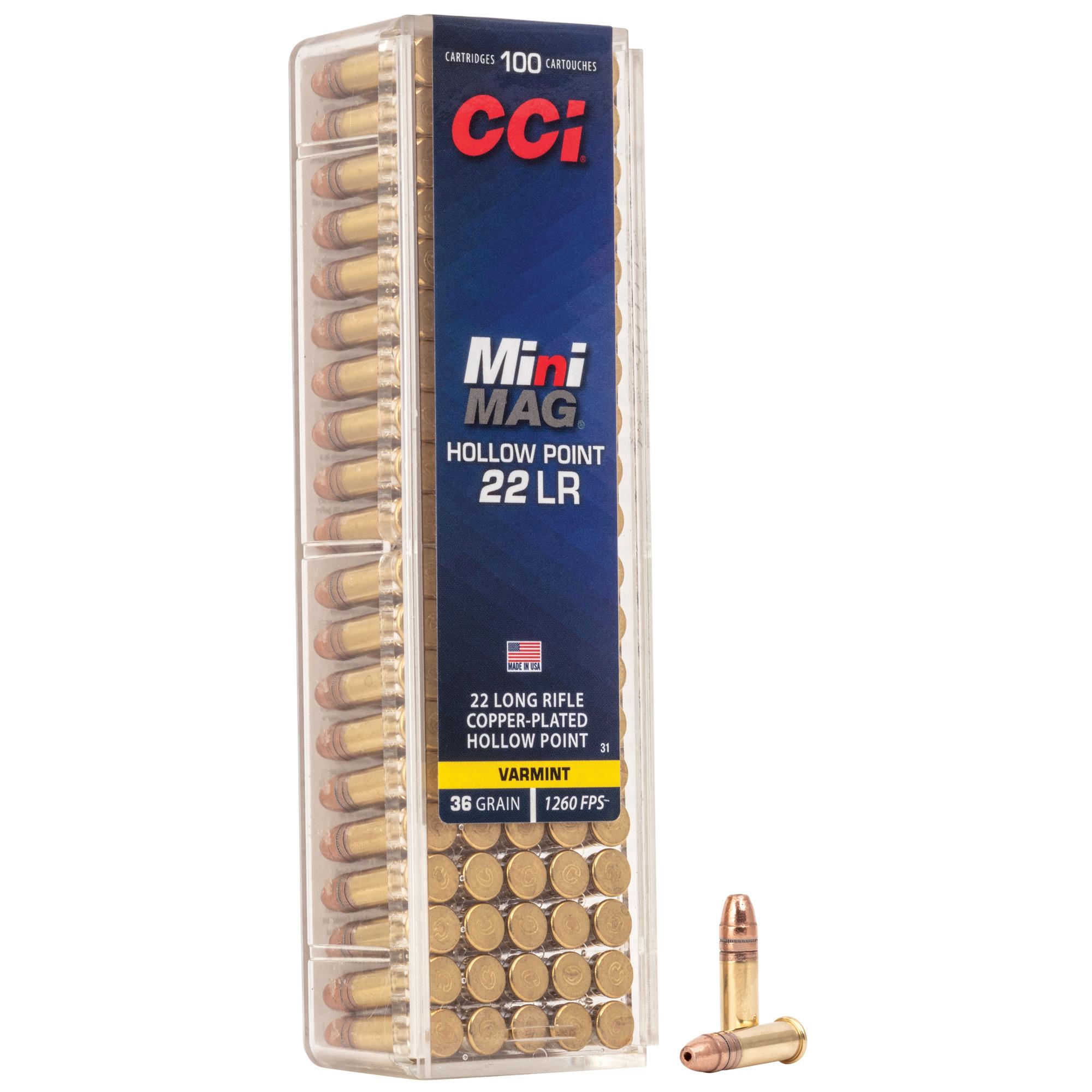 Cci Mini Mag 22lr Hp Plstc 100/5000