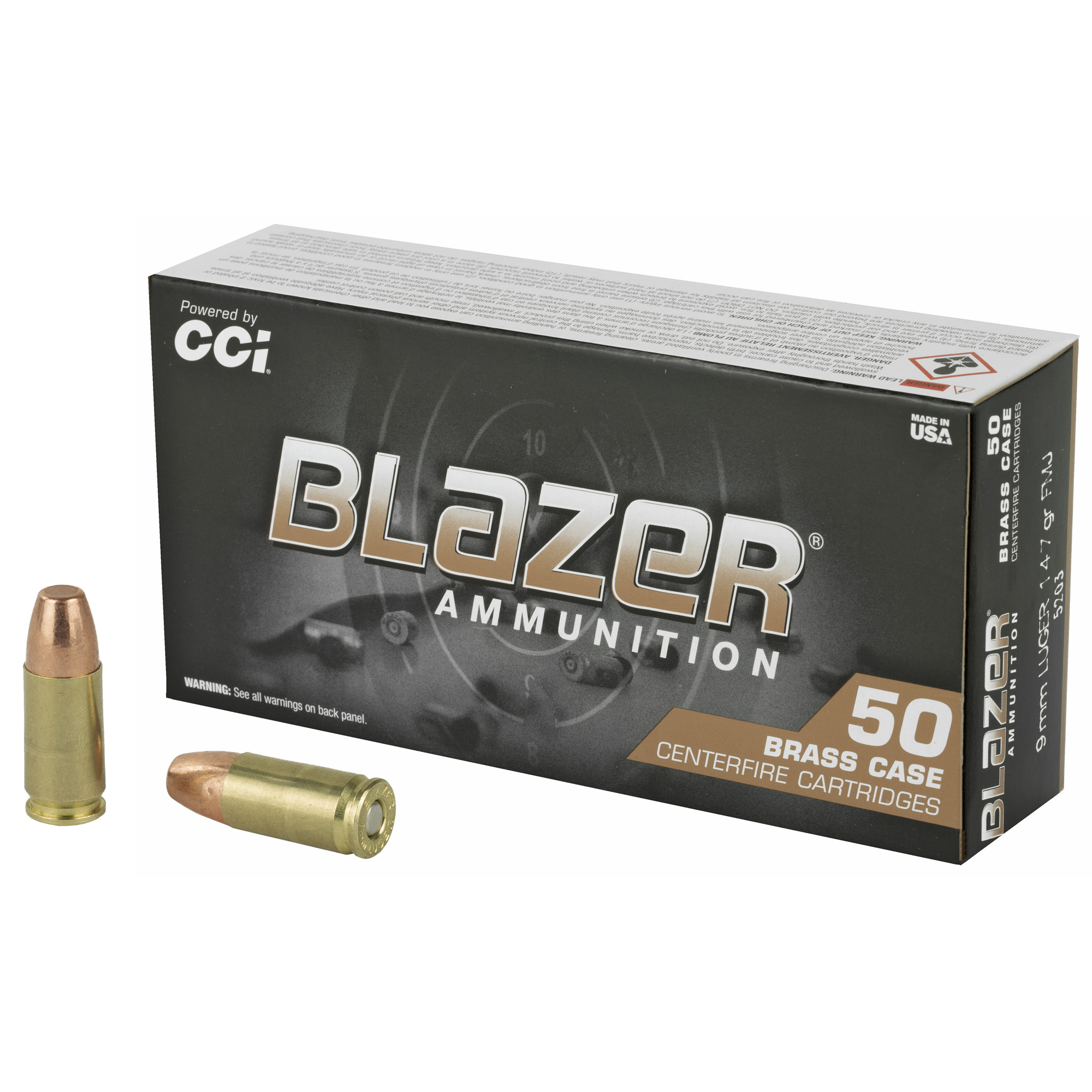 Blazer Brass 9mm 147 Gr Fmj 50/1000