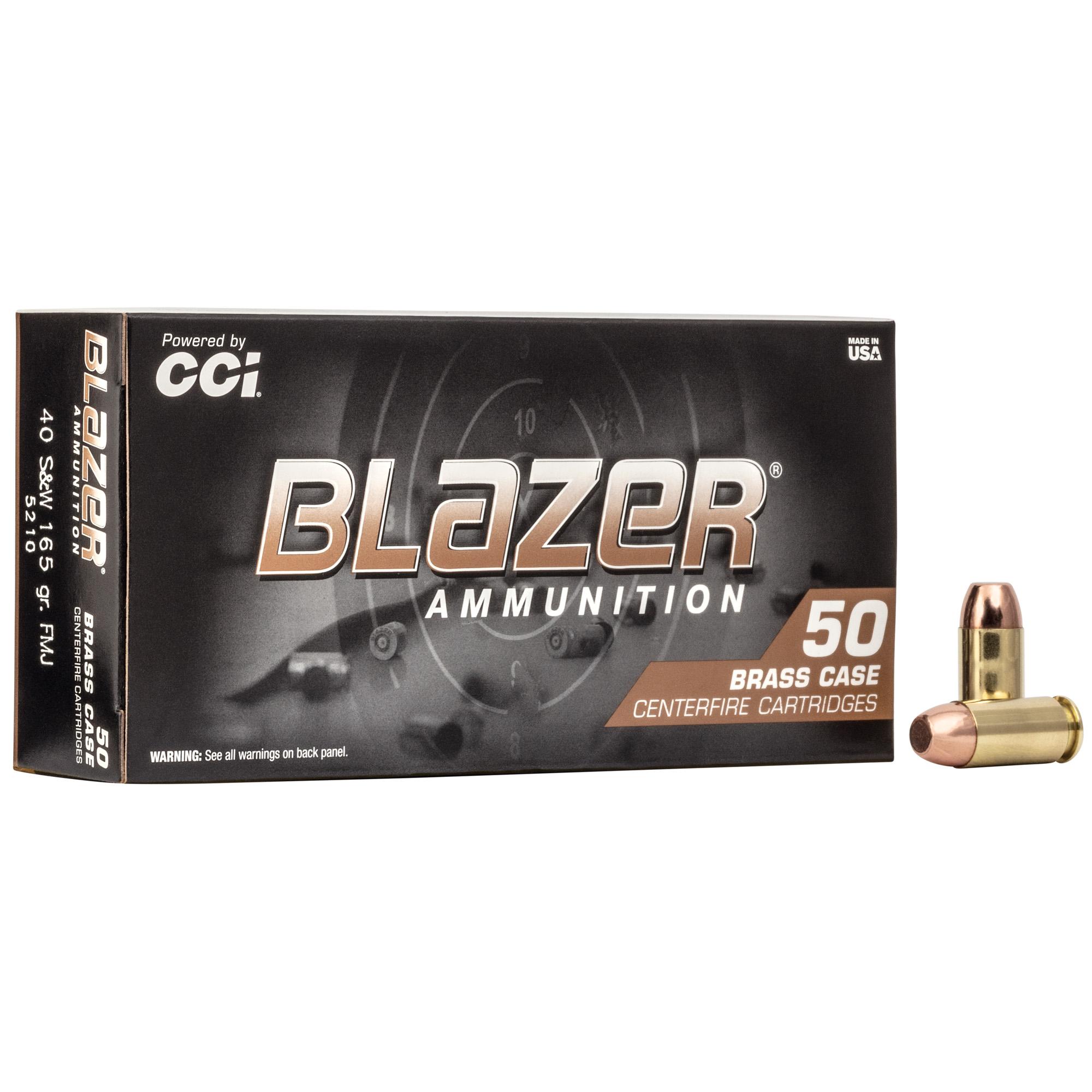 Cci Blazer Brass 40sw 165fmj 50/1000