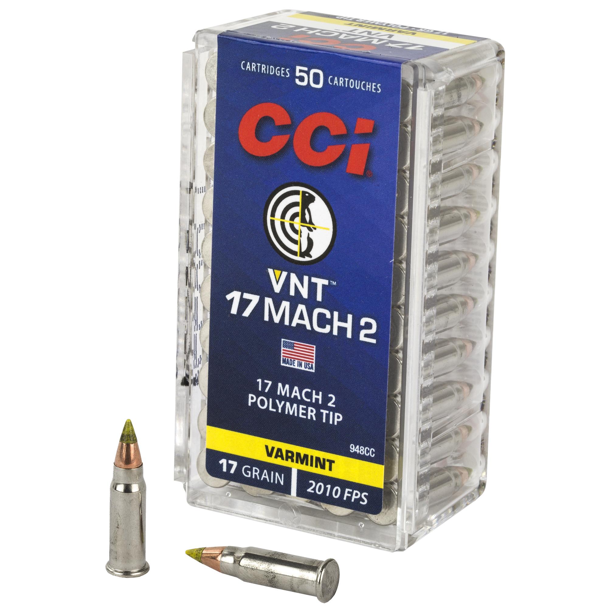 Cci 17 Mach 2 17gr Vrmnt Tip 50/5000