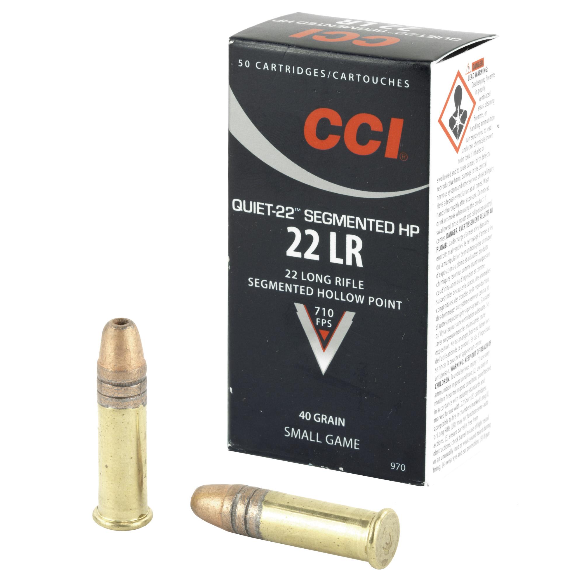 Cci Quiet Segmented 22lr 40gr Hp 50/