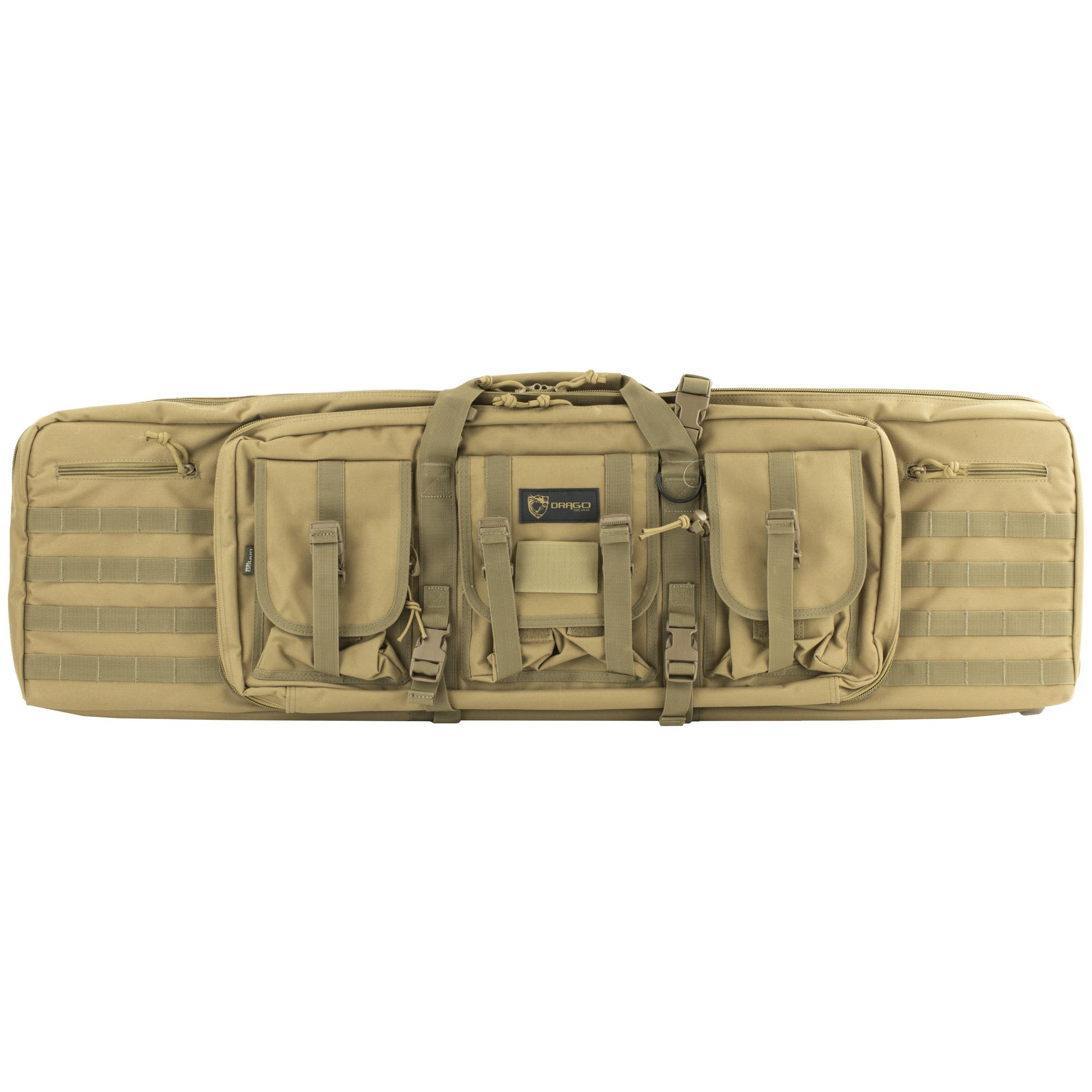 "Drago Gear Double Gun Case, Dbl Rfl Cs, Tan, 600d Polyester,42"" 12-323..."