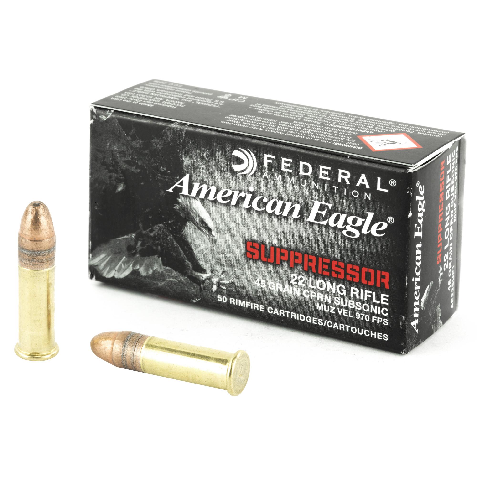 Fed Ae Suppressor 22lr 45gr Fmj 50/
