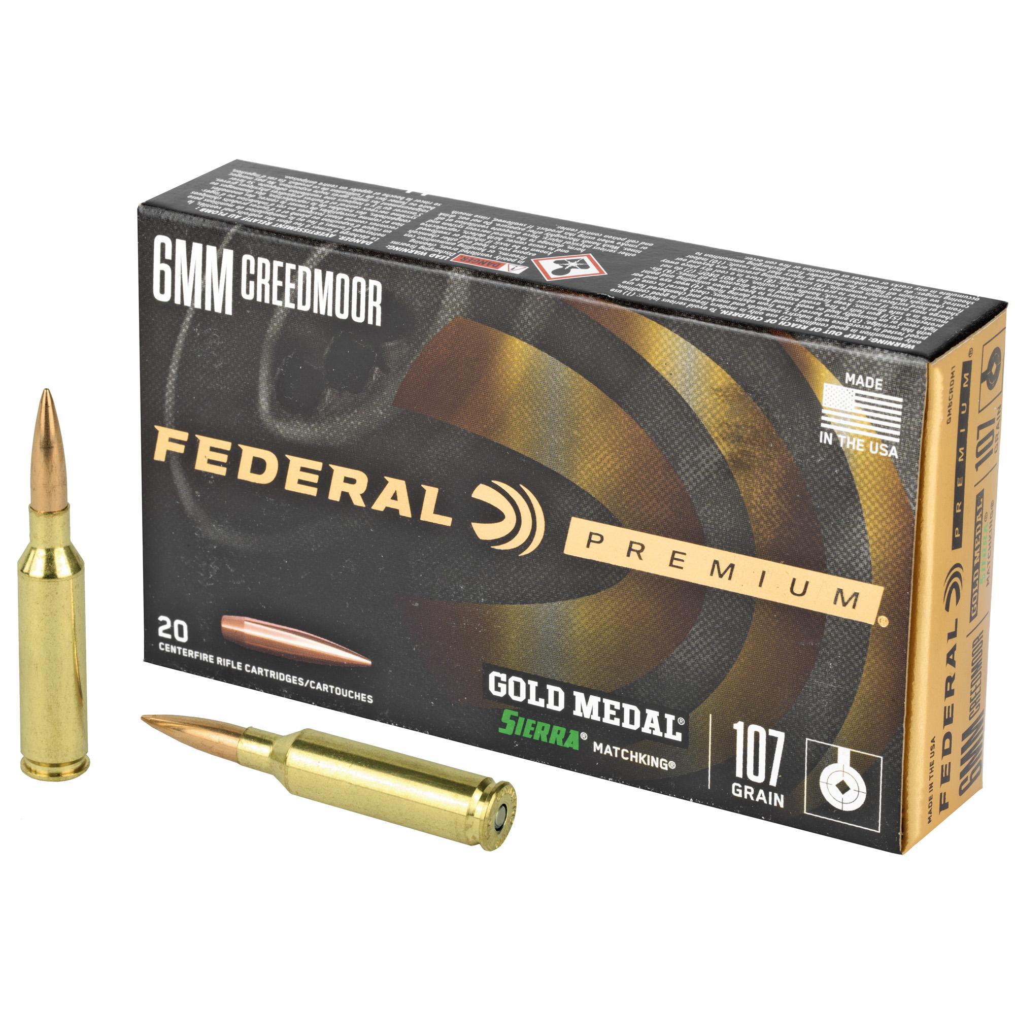 Fed Gold Mdl 6mmcrd 107gr Smk 20/200