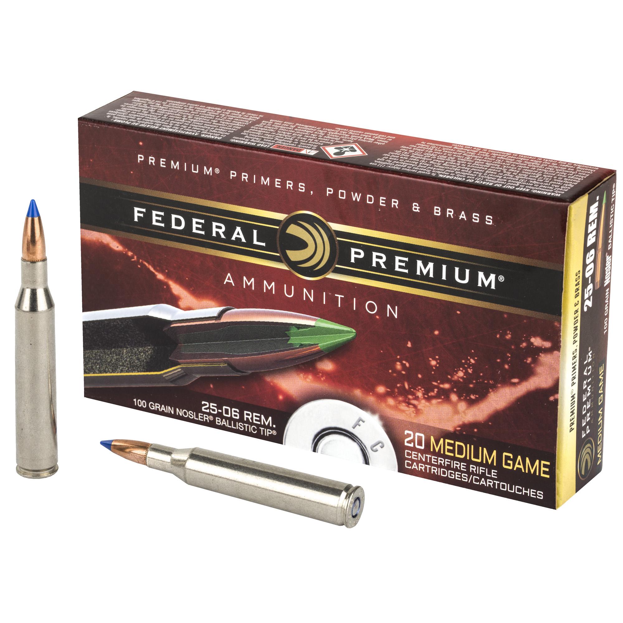 Fed Prm 25-06 100gr Blstc Tip 20/200