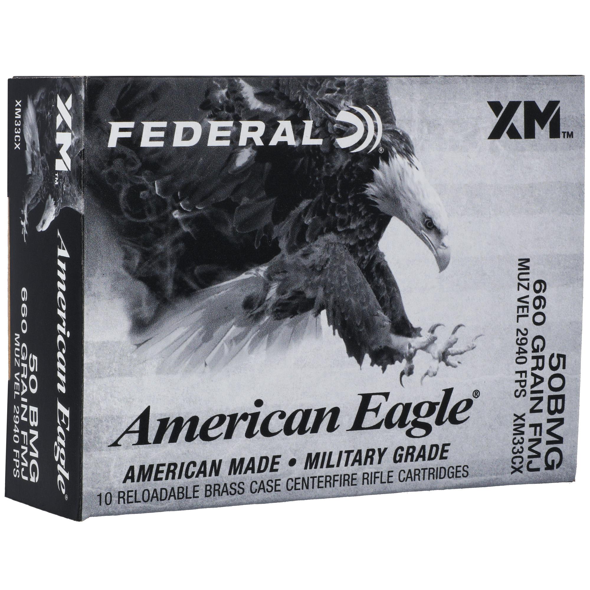 Fed Am Eagle 50bmg 660gr Fmj 10/100