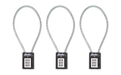 """Fsdc 14"""" Combo Cable Lock Ca&ma 3pk"""