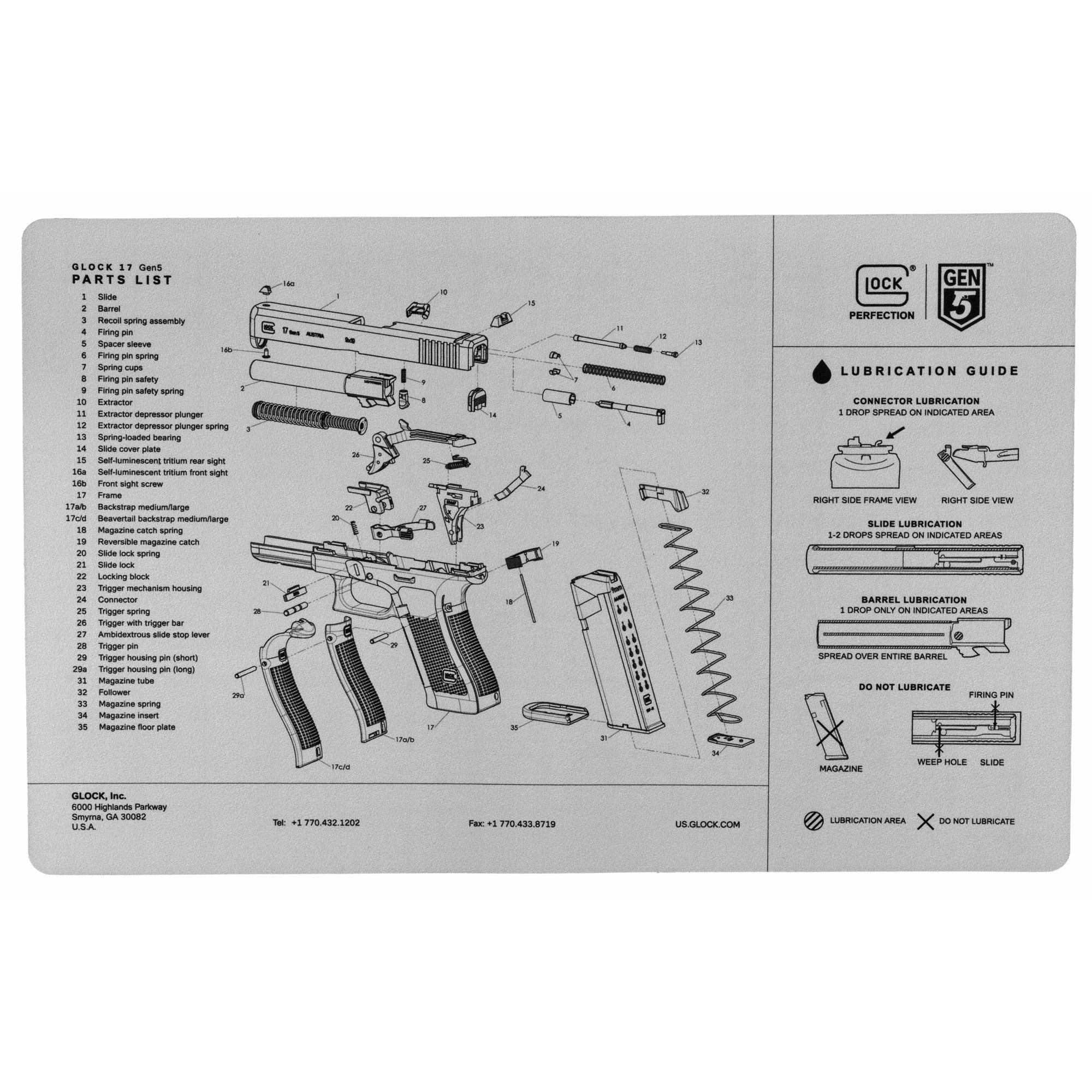 Glock Oem Gen 5 Bench Mat