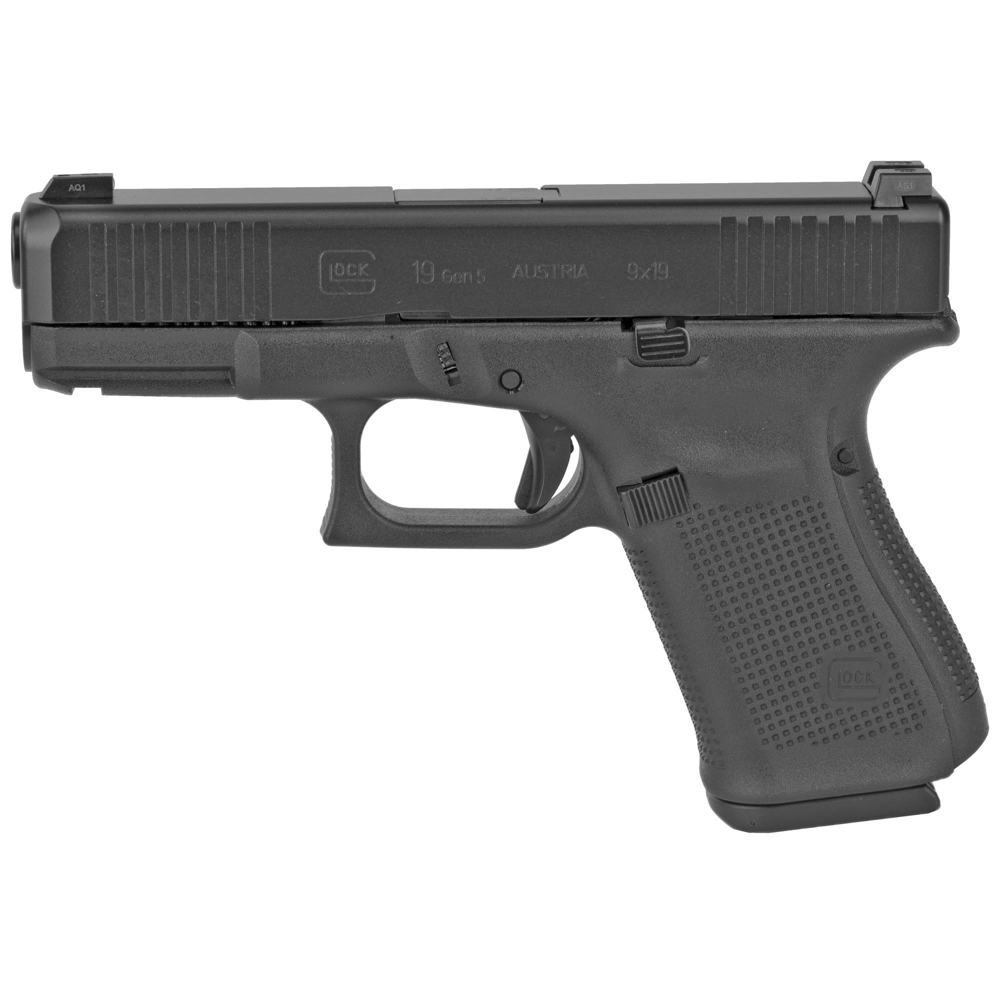 Glock 19 Gen5 9mm Gns 10rd 3 Mags Fs
