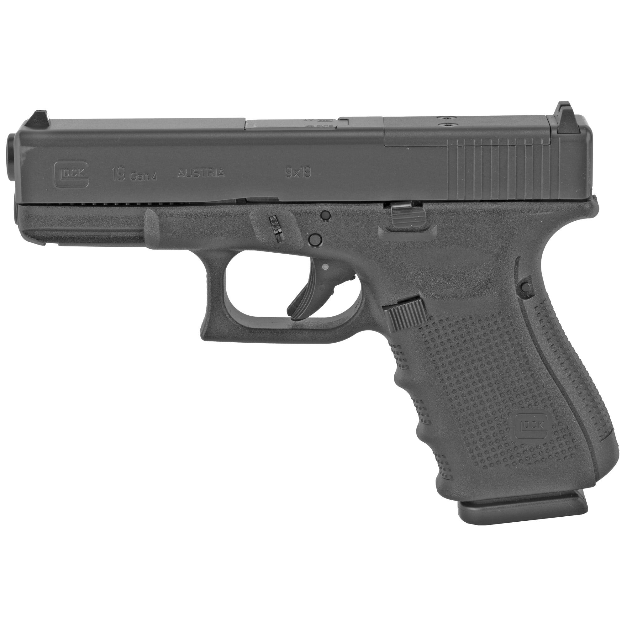 Glock 19 Gen4 9mm 15rd 3 Mags Mos