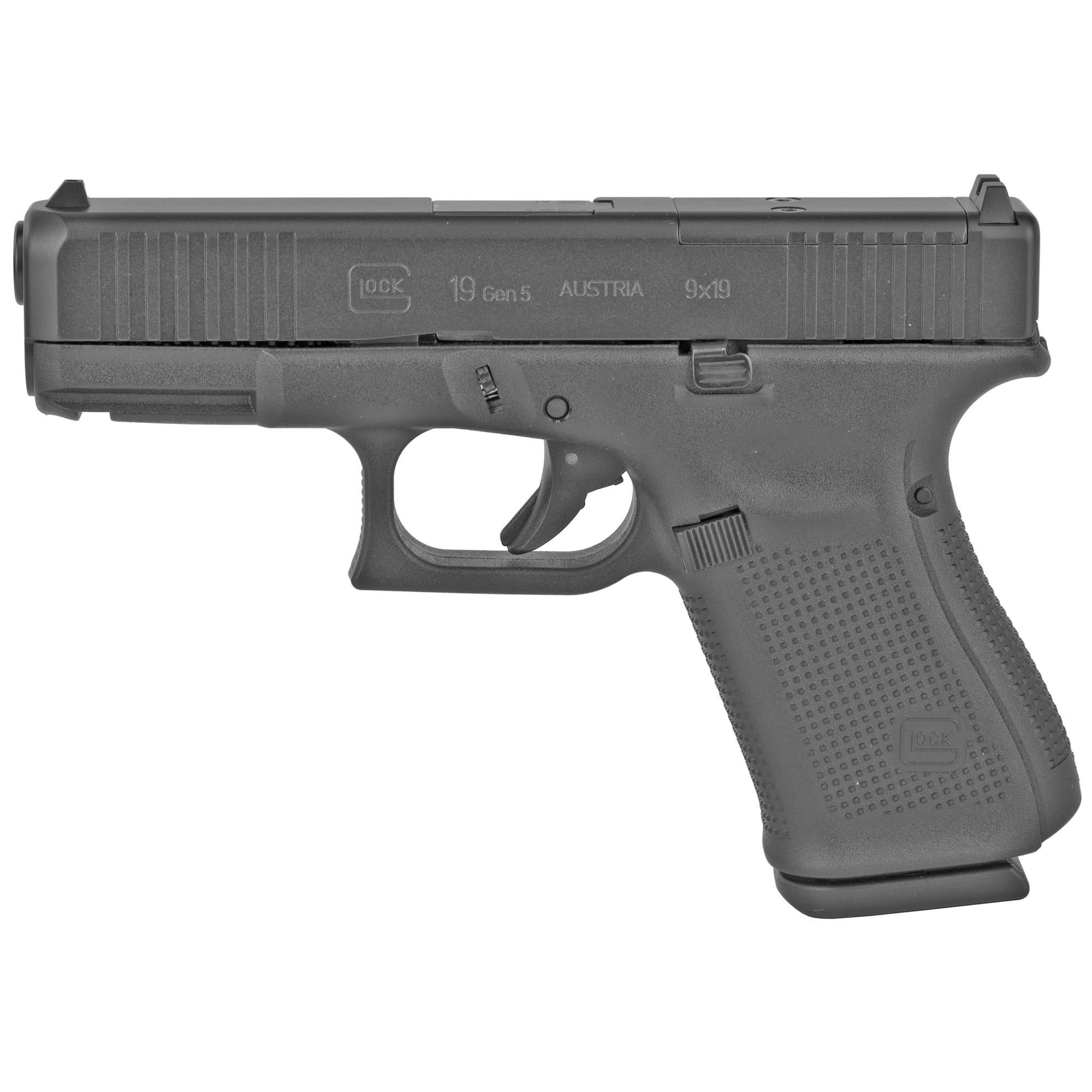 Glock 19 Gen5 9mm Mos Fs 15rd Reb