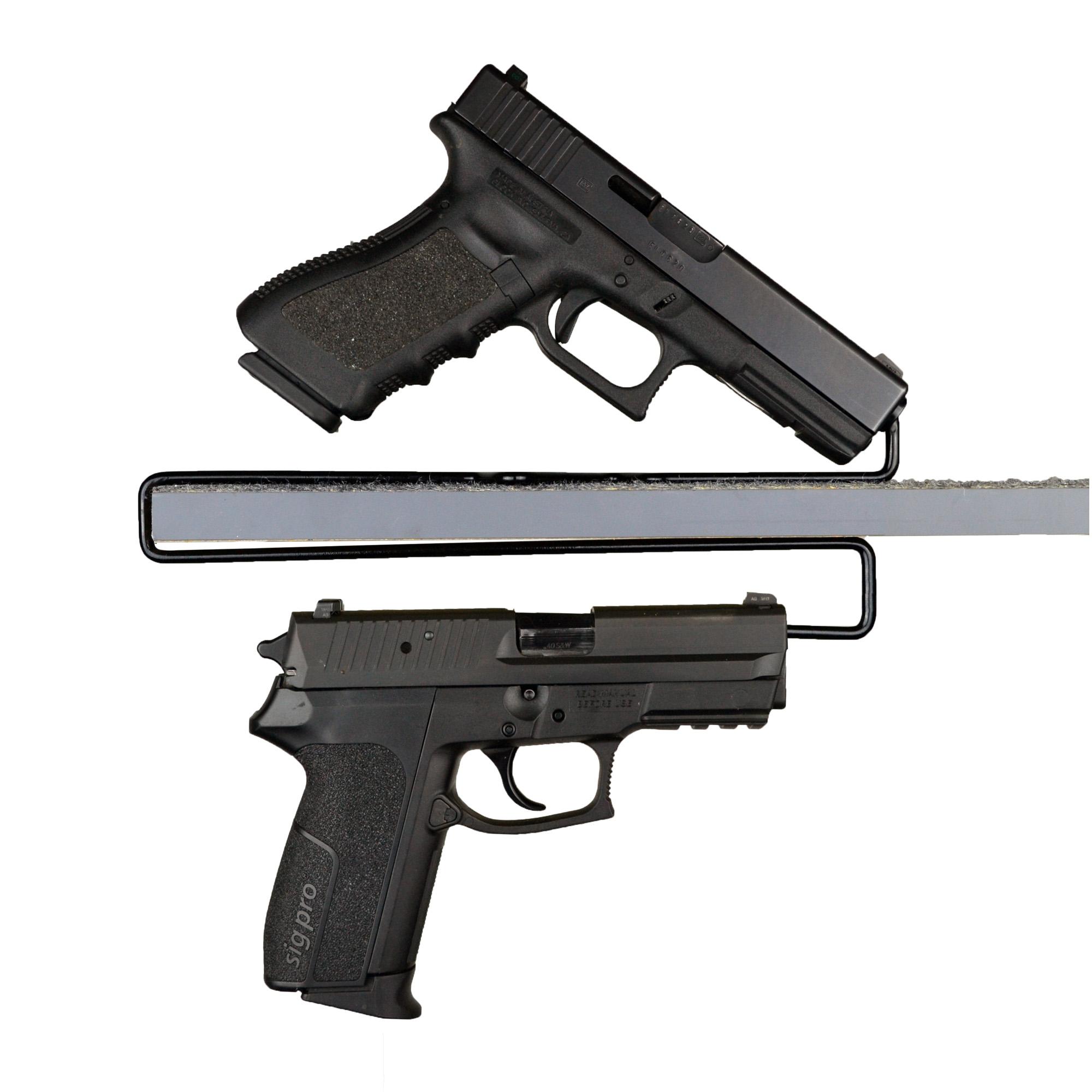 Gss Over Under Handgun Hangers 2pk