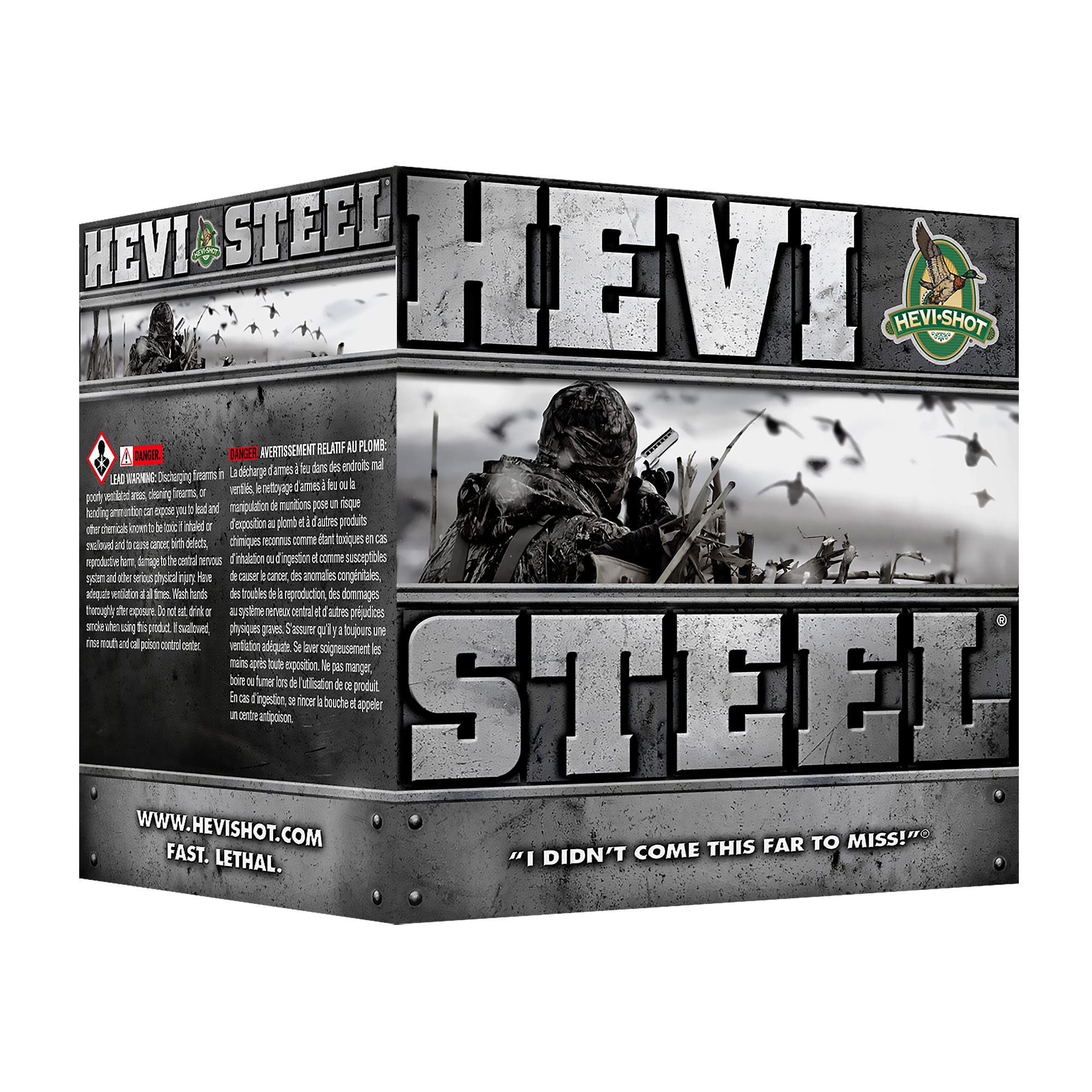 "Hevi Steel 12ga 3.5"" #2 25/250"