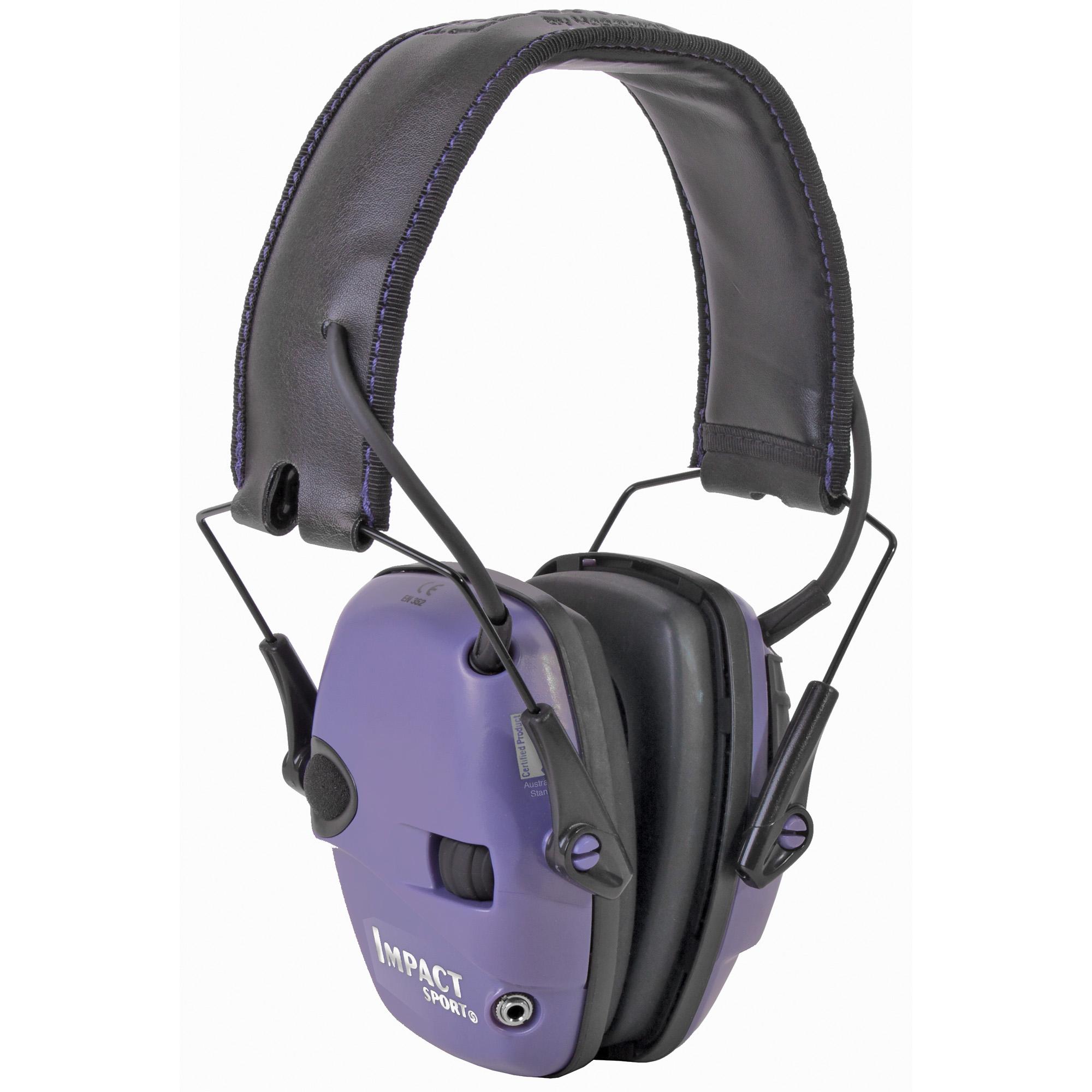 H/l Impact Elect Muff Fldng Purple