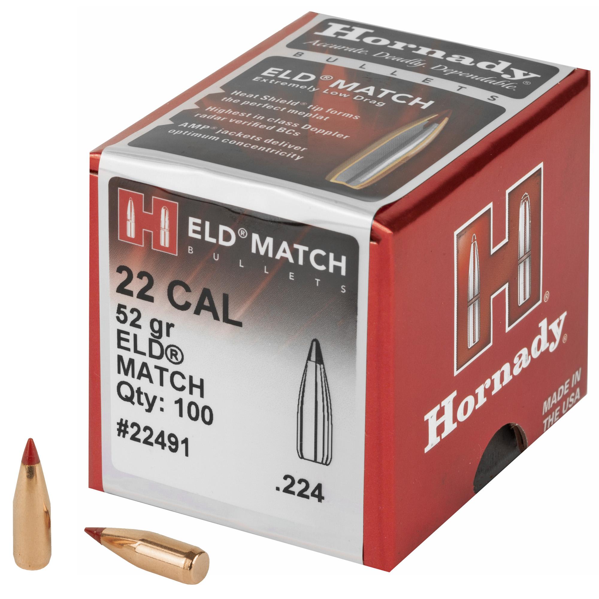 Hrndy Eld-m 22cal .224 52gr 100ct