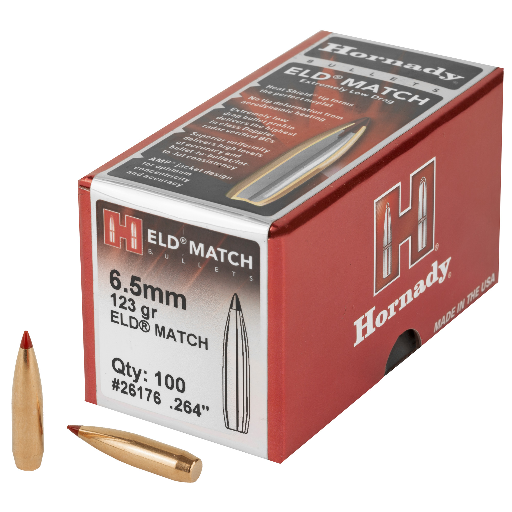 Hrndy Eld-m 6.5mm .264 123gr 100ct