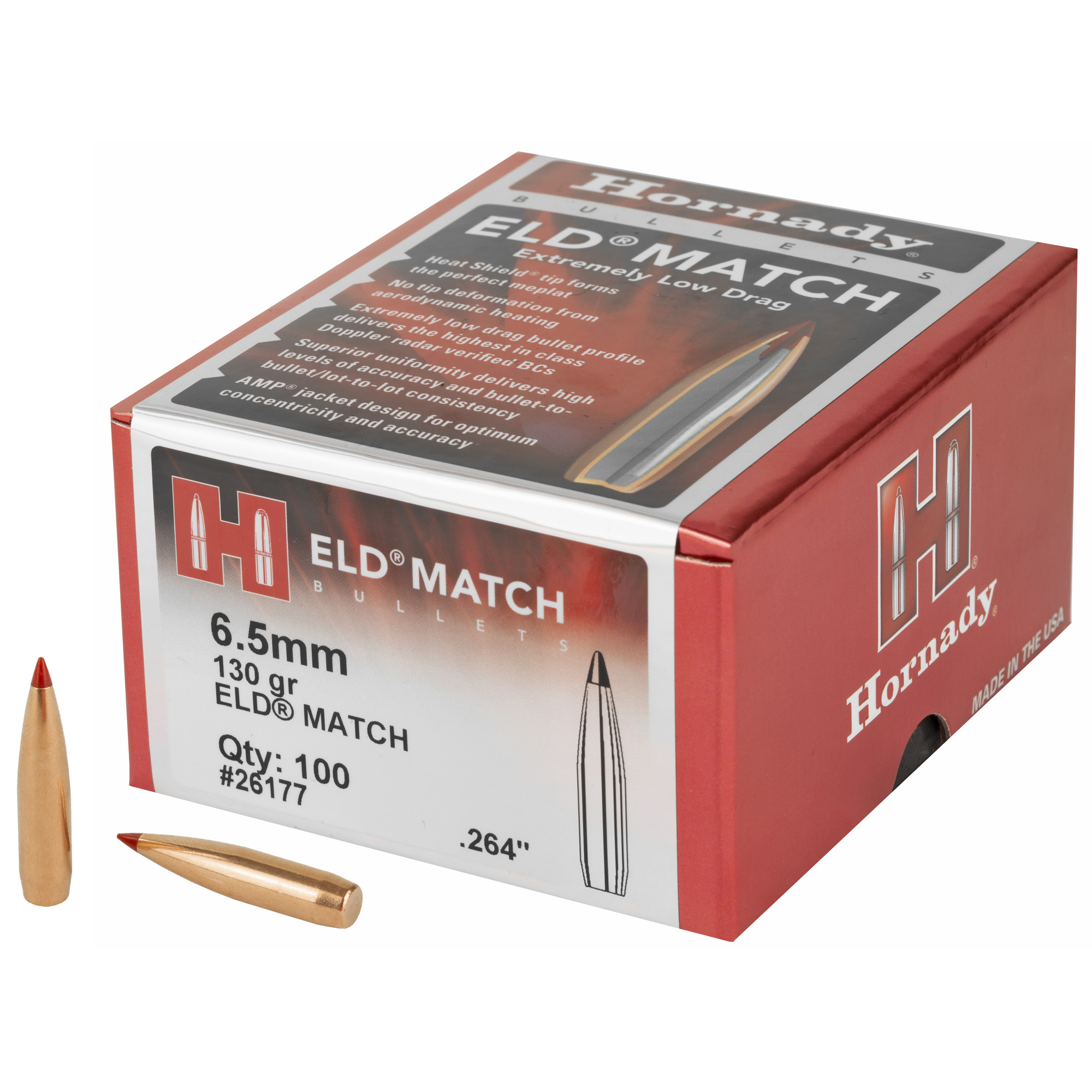 Hrndy Eld-m 6.5mm .264 130gr 100ct