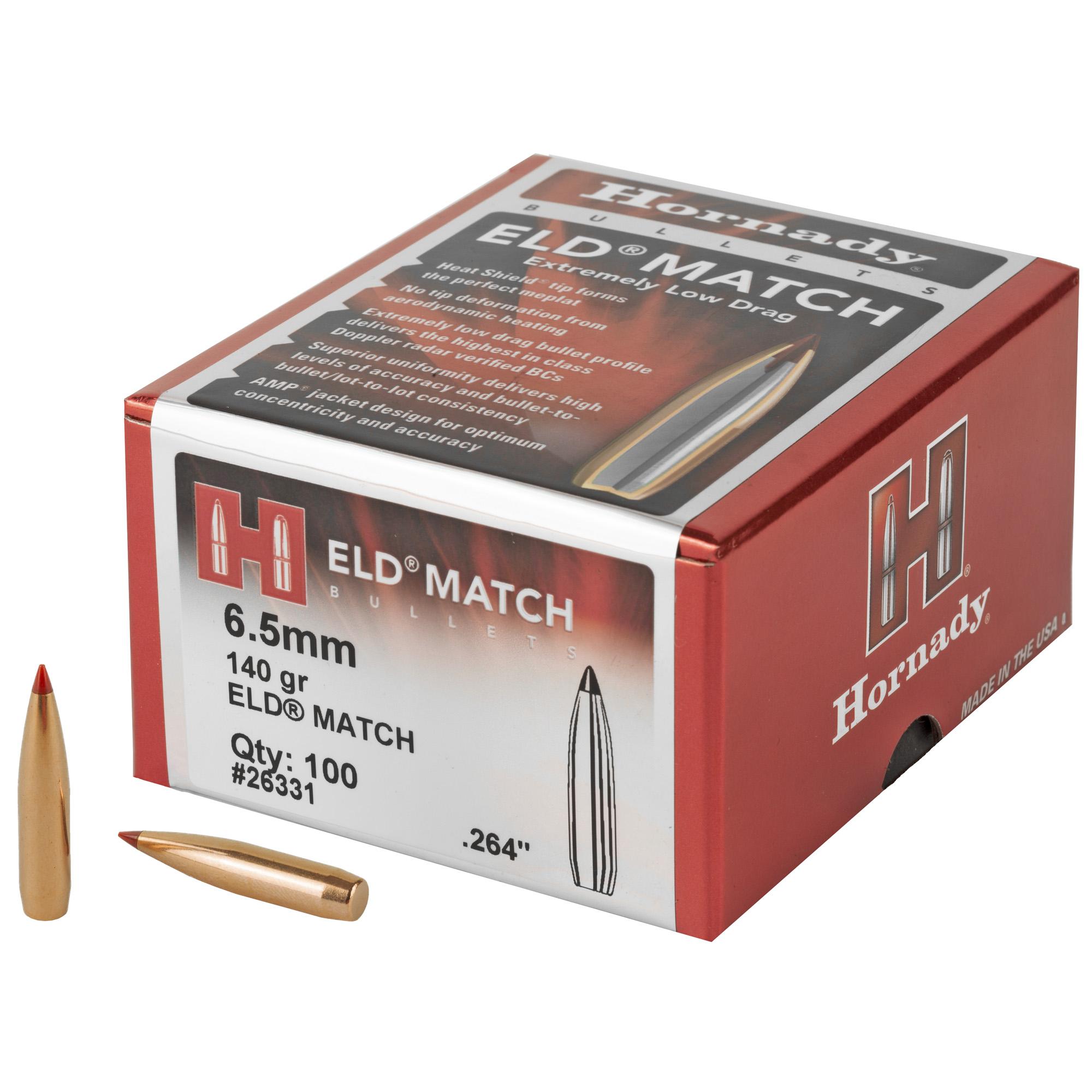 Hrndy Eld-m 6.5mm .264 140gr 100ct