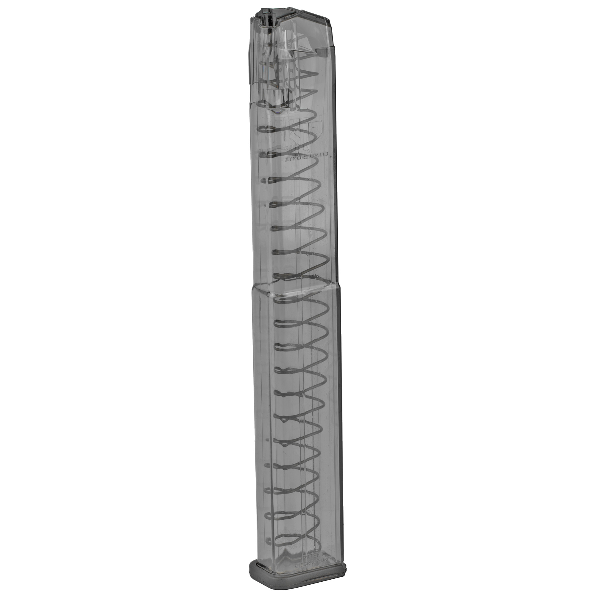 Ets Mag For Glk 9mm 40rd Clear