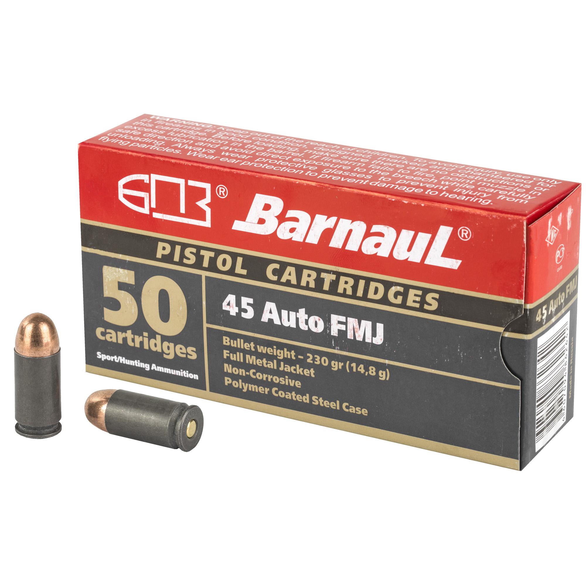 Barnaul 45auto 230gr Fmj 50/500