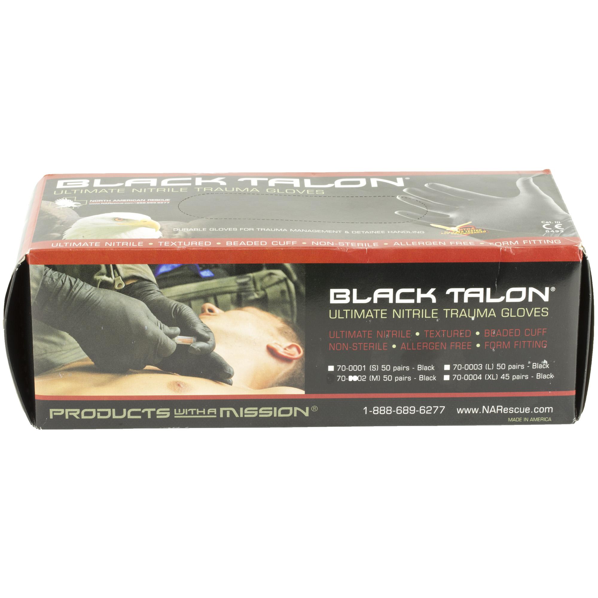 Nar Gloves Black Nitrile Lrg 50 Pair
