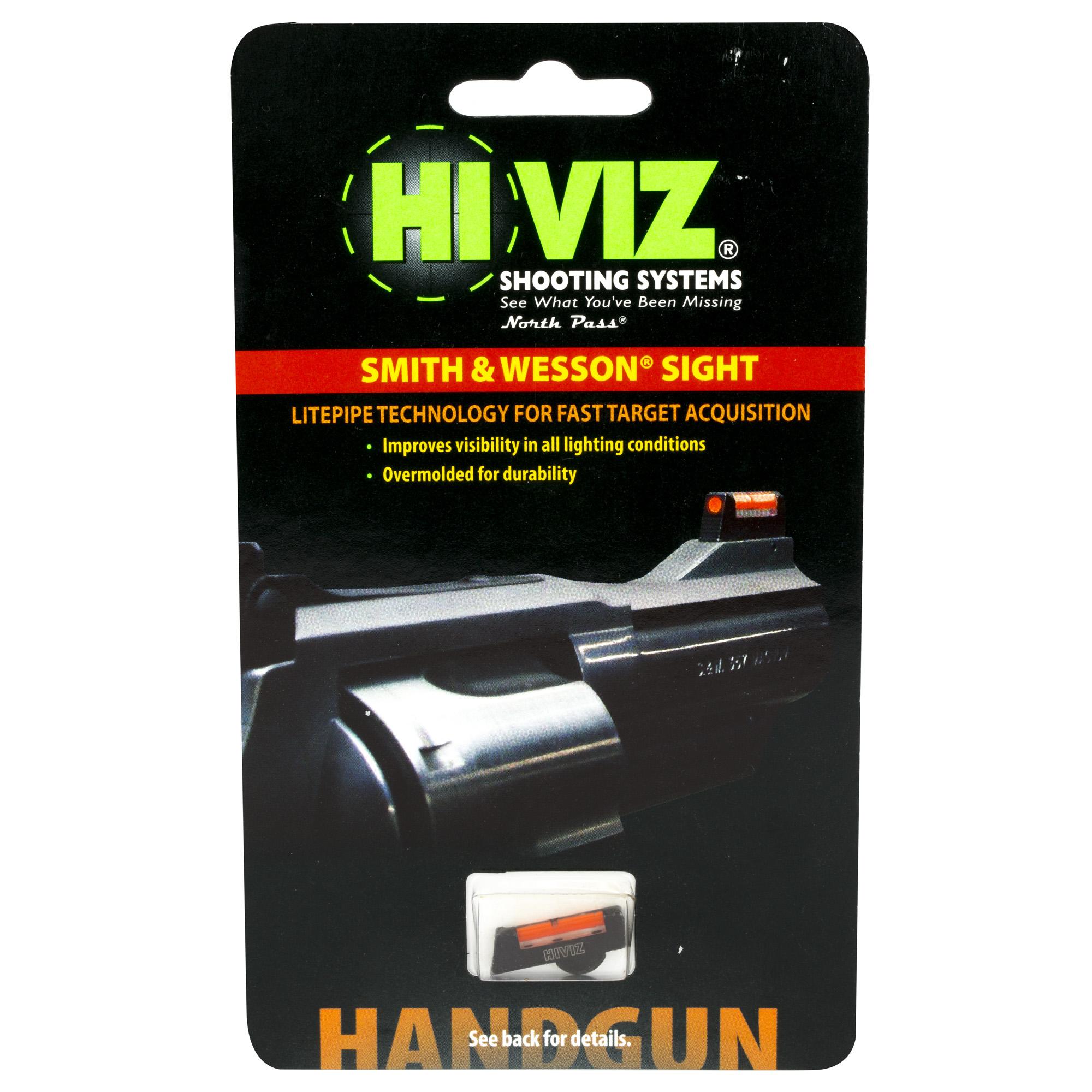 Hiviz S&w Rev W/dx Frnt Sght Red