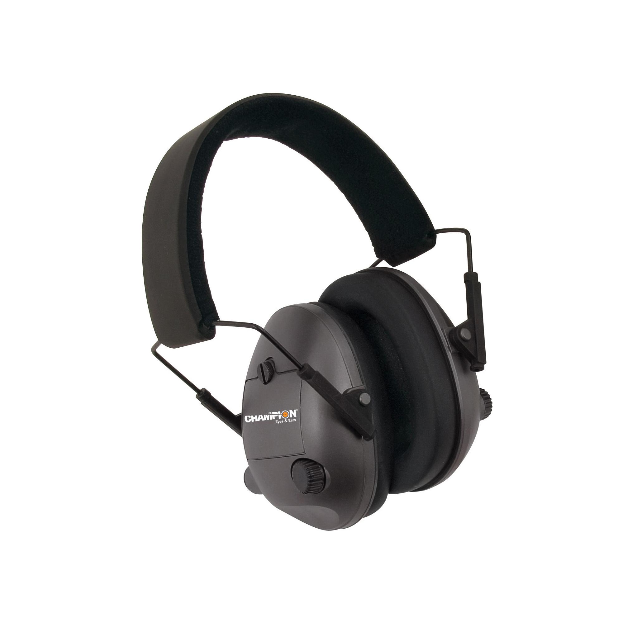 Champion Electronic Ear Muffs Blk