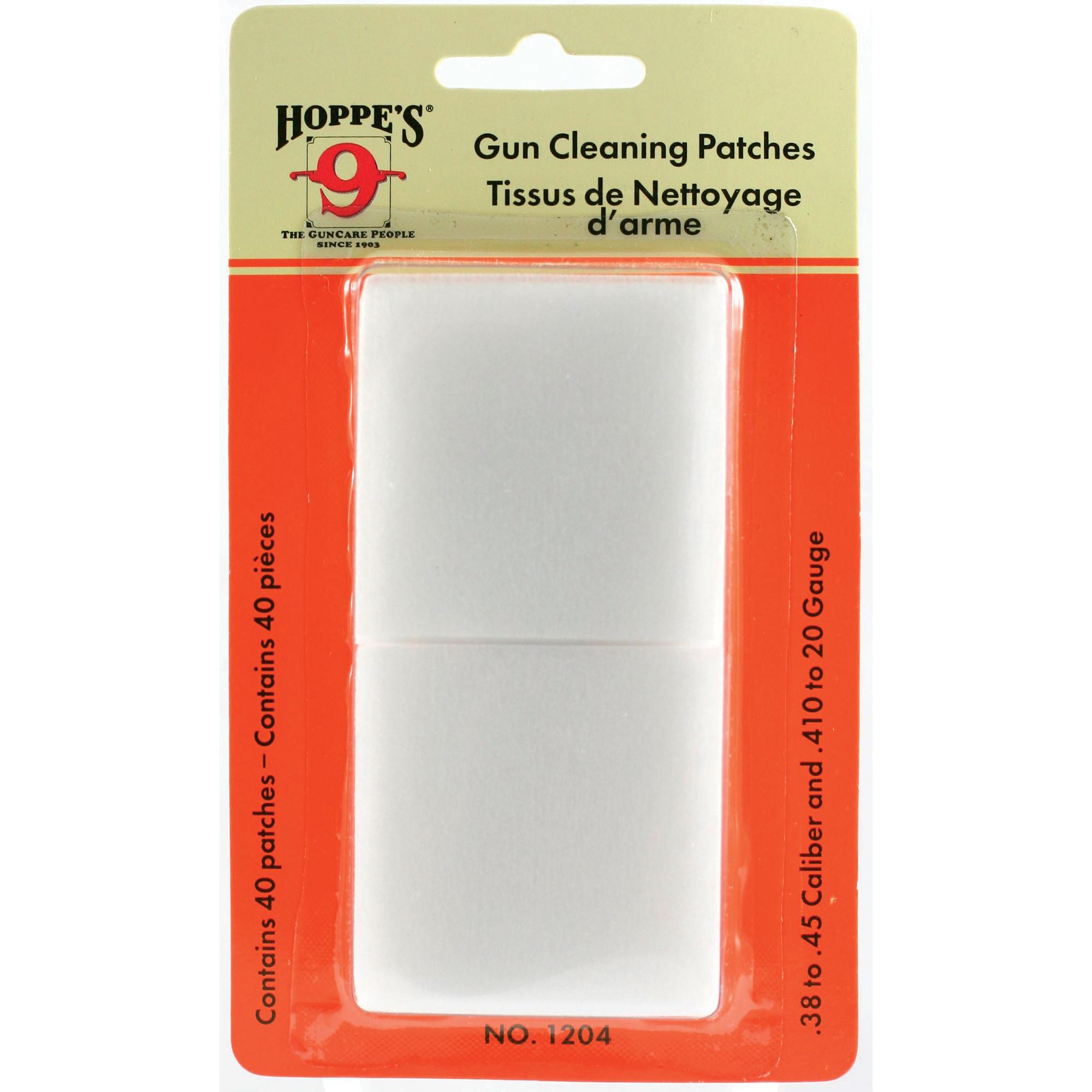 Hoppes Clng Patch 38-45 40/bag