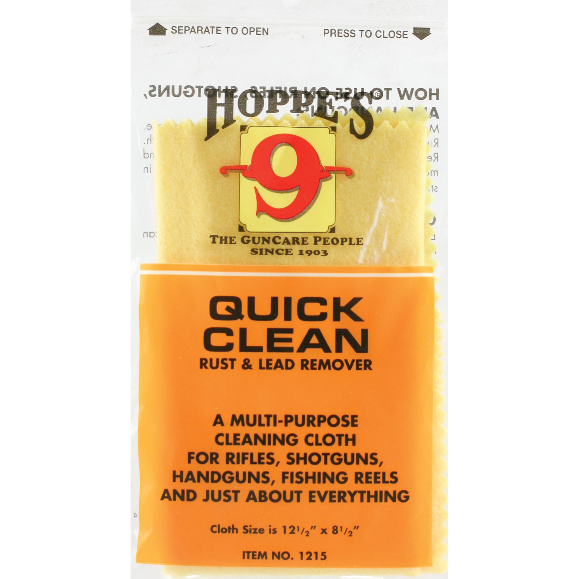 hoppes quick clean cloth rust lead remover poly bag 1215 for sale by recoil gunworks of salem. Black Bedroom Furniture Sets. Home Design Ideas