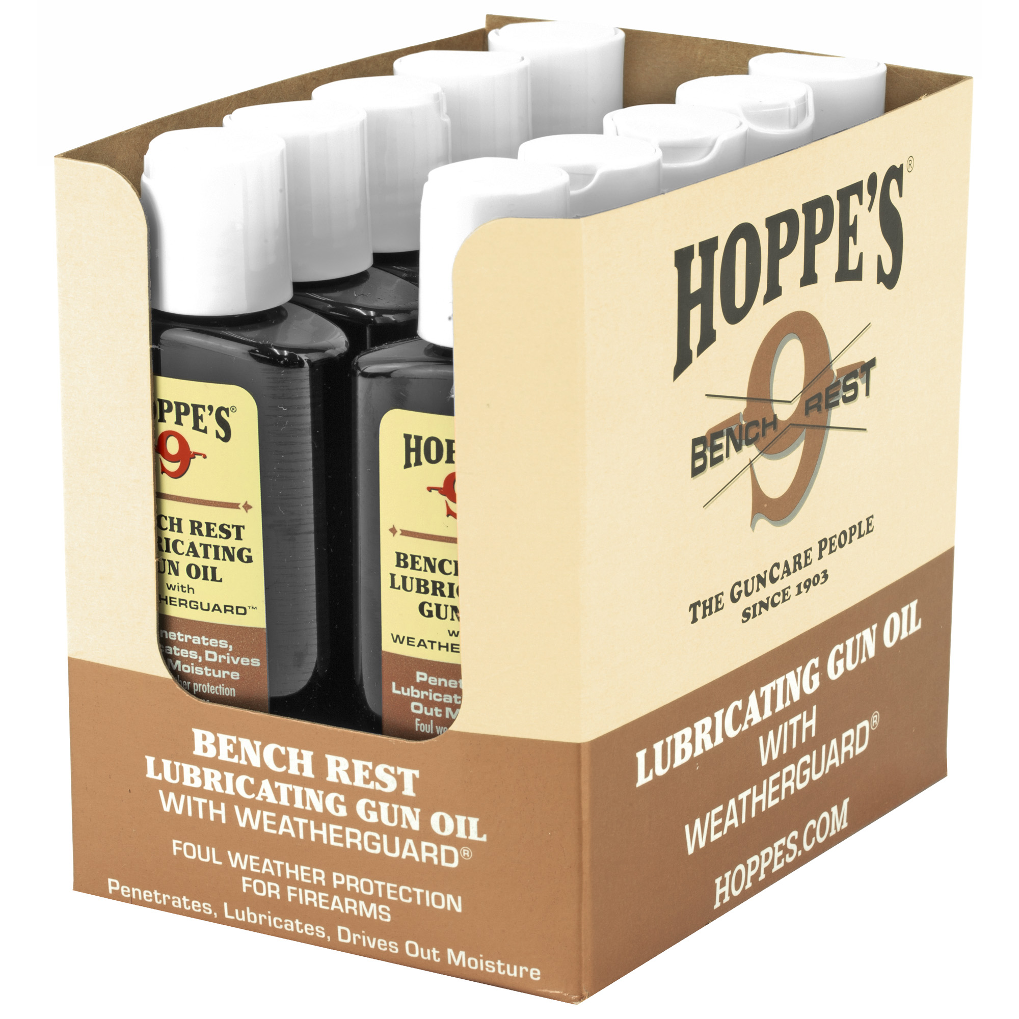 Hoppes #9 2.25oz Bench Rest 10pk