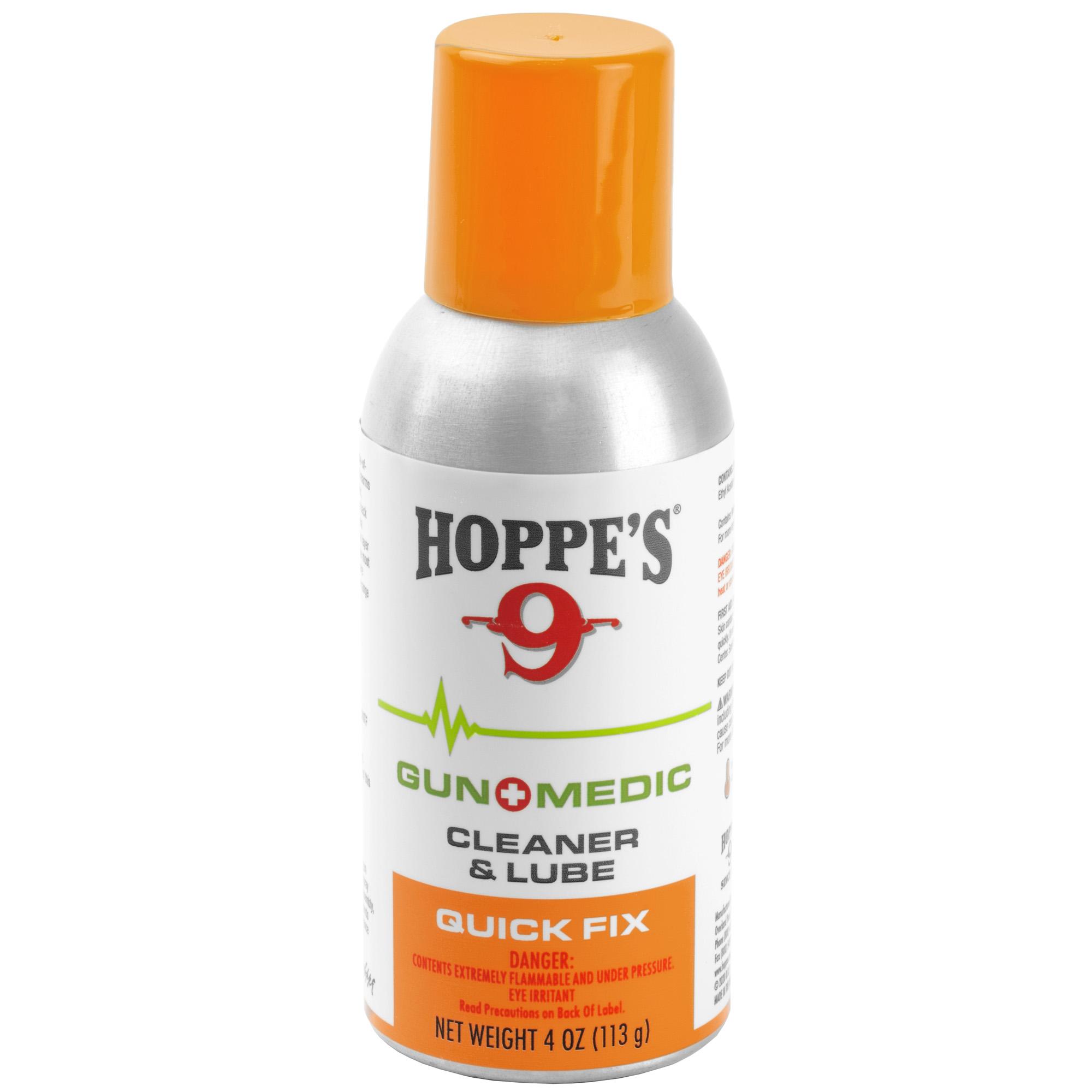 Hoppes Gun Medic Cln/lube 4oz 10pk