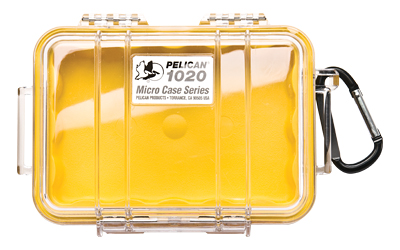 Pelican 1020 Micro Case Yellow/clear
