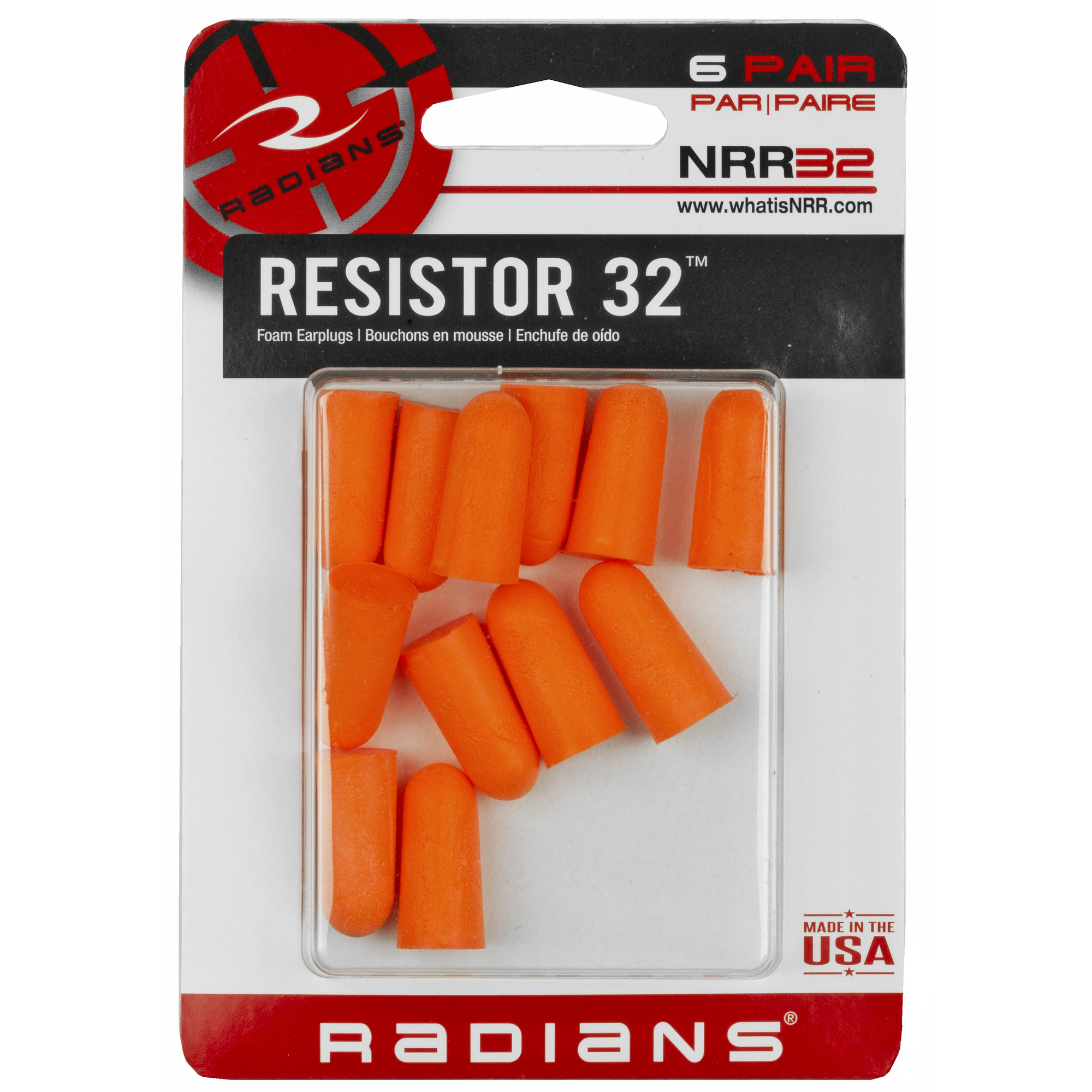 Radians Resistor Earplug 6 Pairs