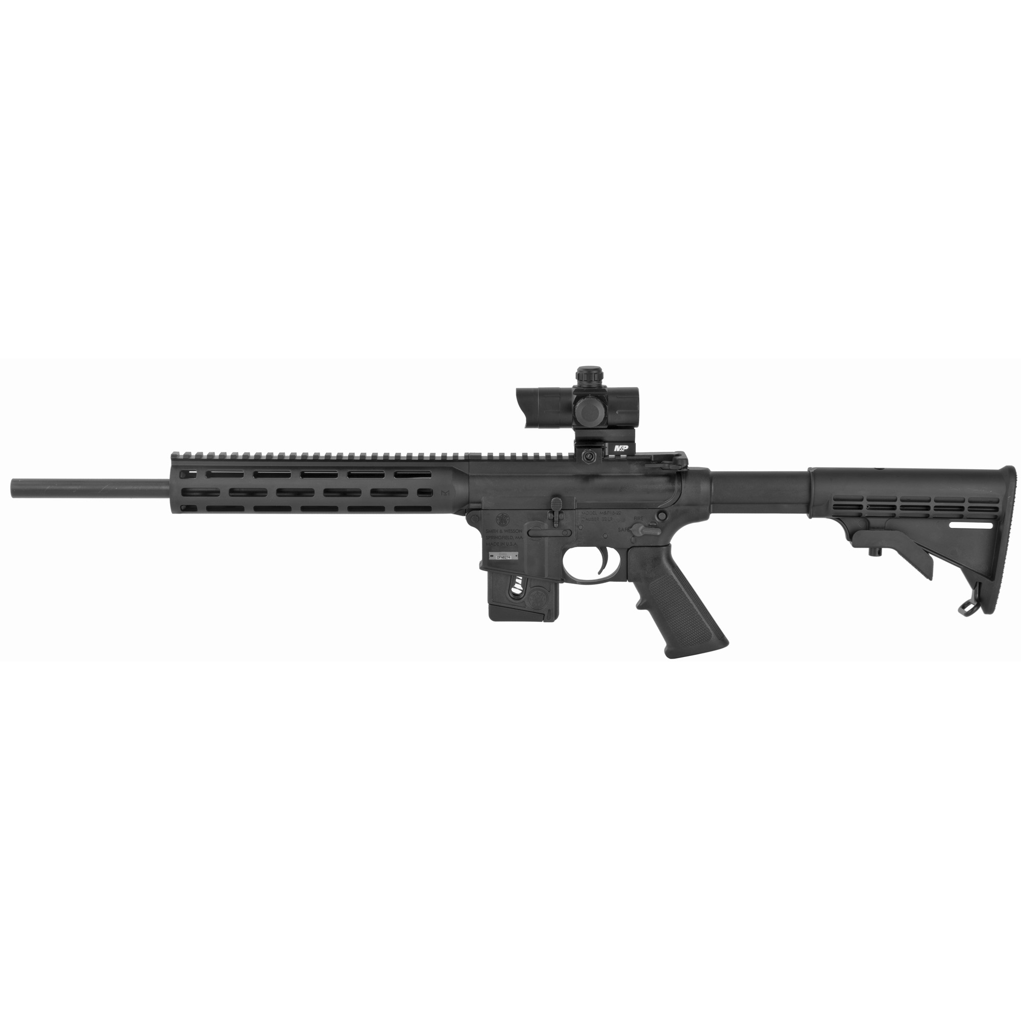 "M&p15-22 22lr 16"" 10rd Blk Or Ca"