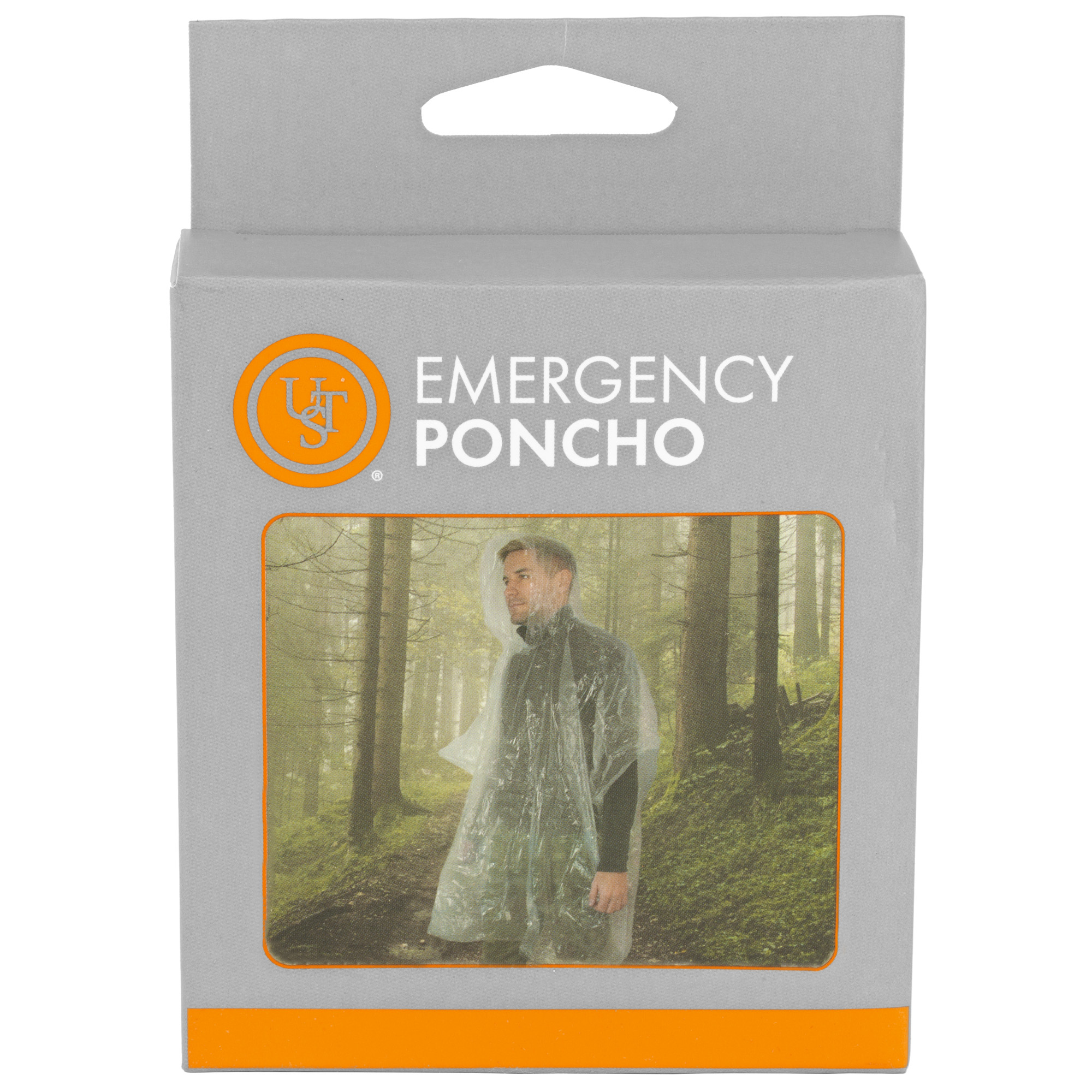 Ust Emergency Poncho Clear