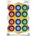 Birchwood Casey Pregame Target, Star Burst, 12x18, 8 Targets 35572...