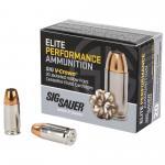 Sig Sauer Elite Performance V-crown Ammunition, 9mm, 124 Grain, Jacket...
