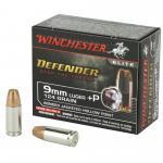 Win Defender 9mm+p 124gr Jhp 20/200