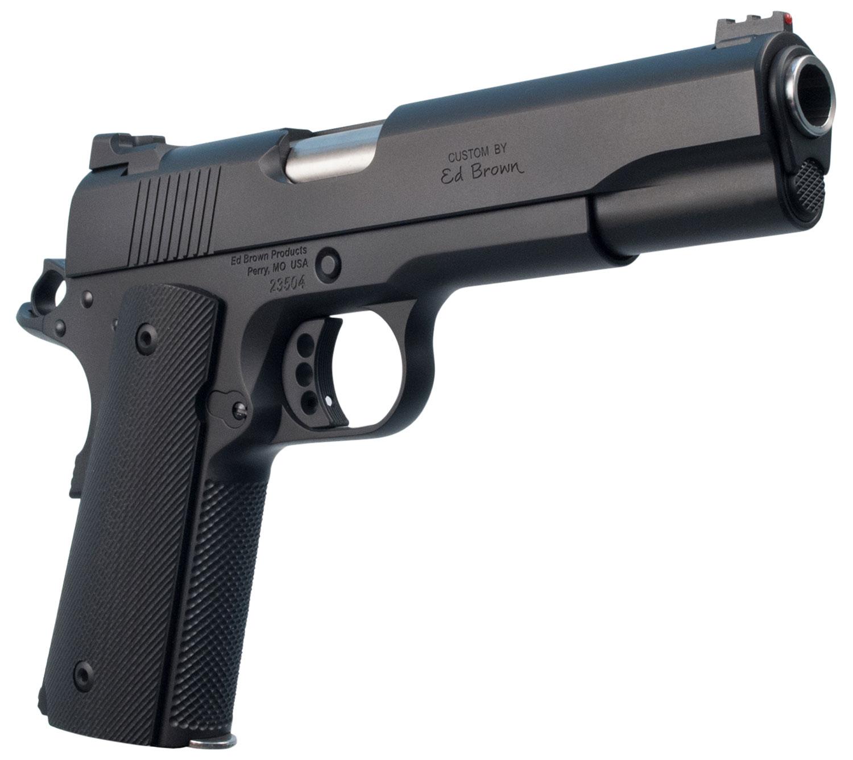 """Ed Brown SF18G4 Special Forces  Single 45 Automatic Colt Pistol (ACP) 5"""" 7+1 Black VZ Grip Black Gen4"""