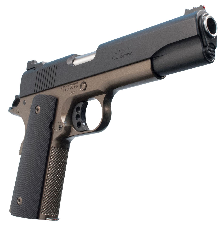 """Ed Brown SF18BZ Special Forces  Single 45 Automatic Colt Pistol (ACP) 5"""" 7+1 Black VZ Grip Battle Bronze Frame Black Gen4"""