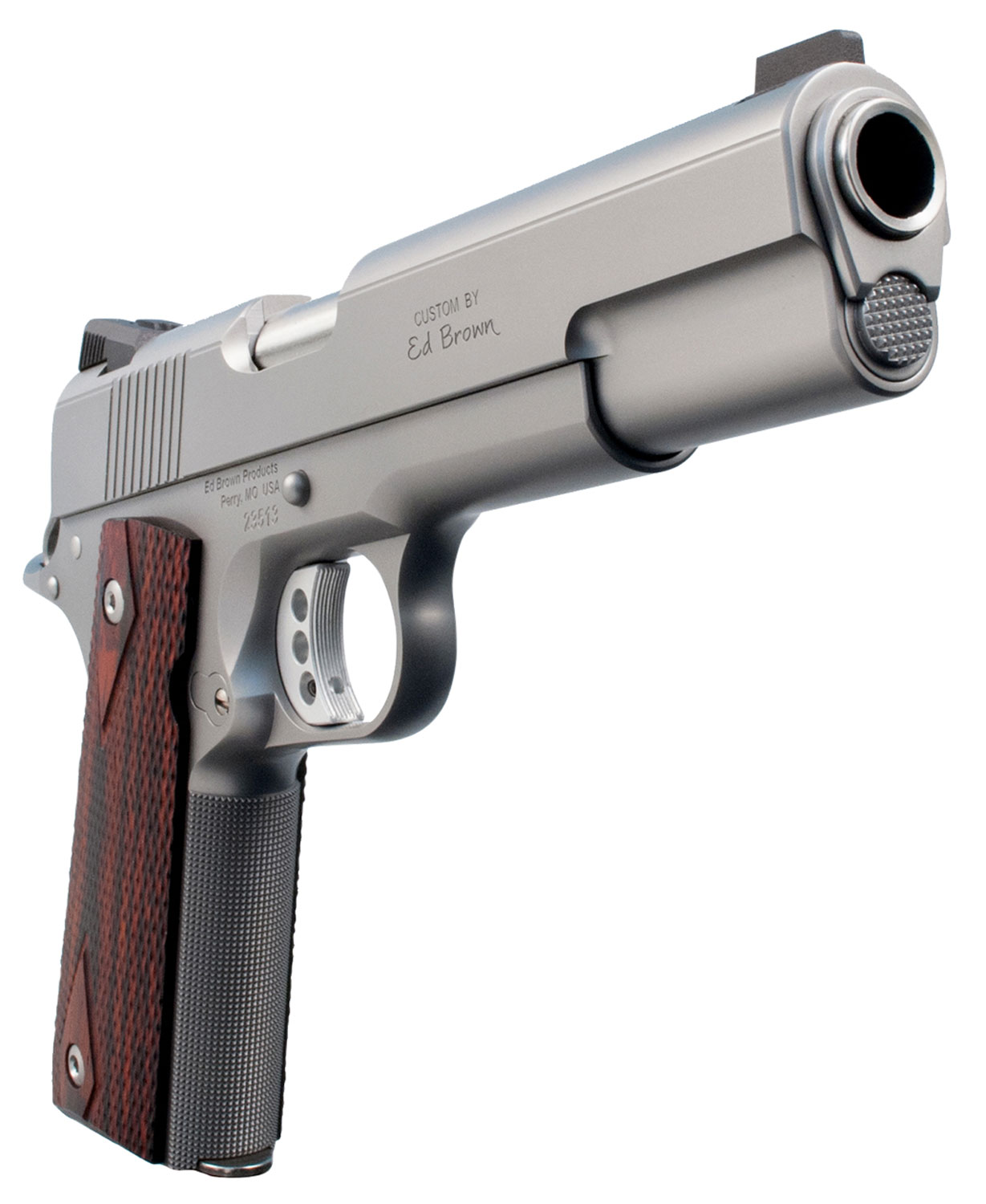 "Ed Brown E18SS Executive Elite Single 45 Automatic Colt Pistol (ACP) 5"" 7+1 Black VZ Grip Stainless Steel"