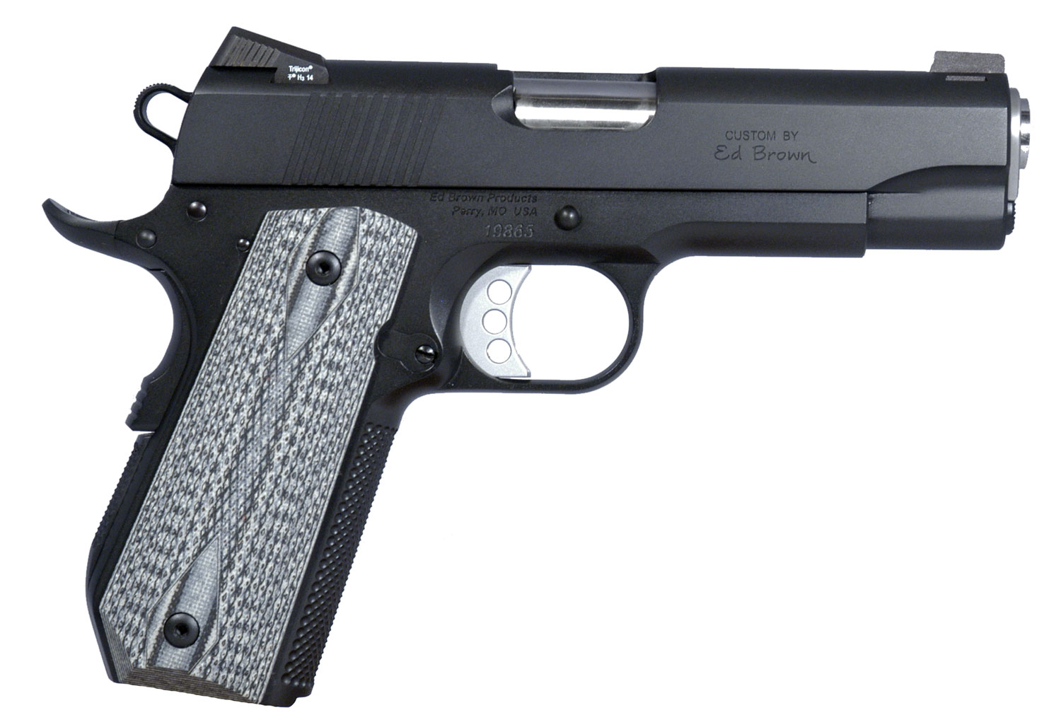 "Ed Brown SFC3SSG4 Special Forces Carry SOA 45 Automatic Colt Pistol (ACP) 4.25"" 7+1 Blk/Gray G10 Grip Blk Gen4"
