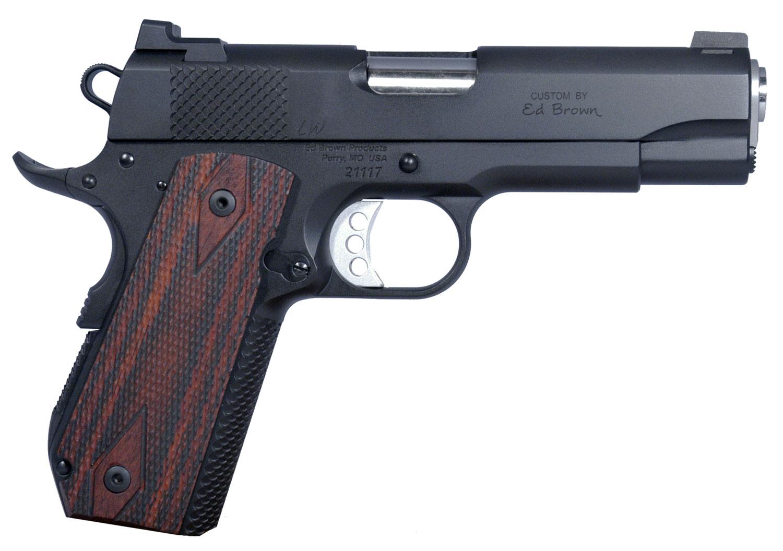 "Ed Brown KCLWG4 Kobra Carry Gen4 SOA 45 ACP 4.25"" 7+1 Laminate Wood Grip Blk Gen4"