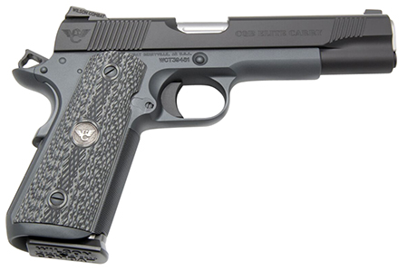 "Wilson Combat CQBECFS9 1911 CQB Elite Carry Single 9mm Luger 5"" 8+1 Black G10 Grip Black"