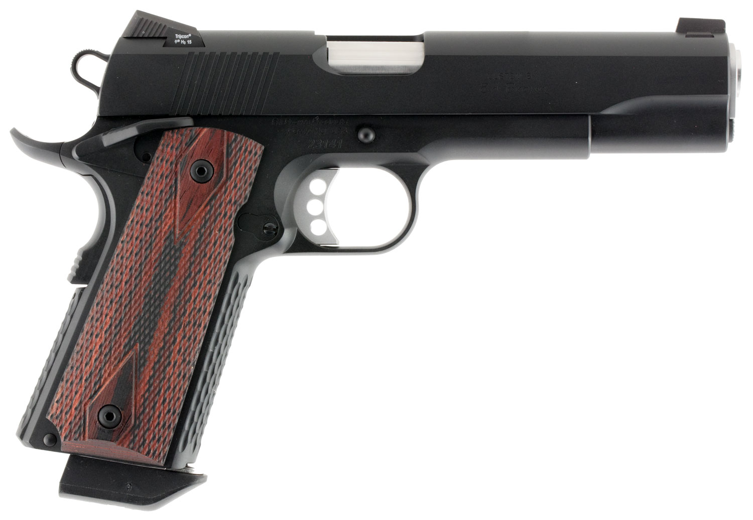 "Ed Brown SFBBCAL2 Special Forces Gen 4 *CA Compliant* Single 45 Automatic Colt Pistol (ACP) 5"" 7+1 Laminate Wood Grip Black Carb"