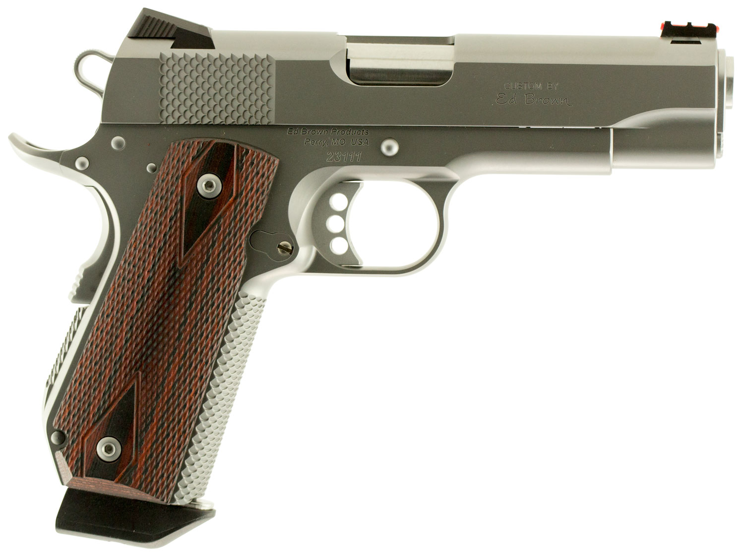 """Ed Brown KCSS9MM Kobra Carry Single 9mm Luger 4.25"""" 7+1 Laminate Wood Grip Stainless"""