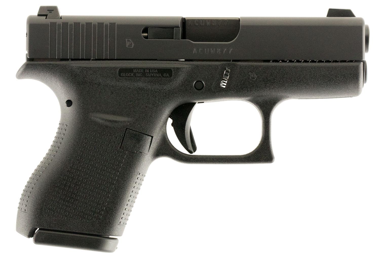 "Glock UI4250701 G42 Subcompact Double 380 Automatic Colt Pistol (ACP) 3.25"" 6+1 Black Polymer Grip/Frame Grip Black"