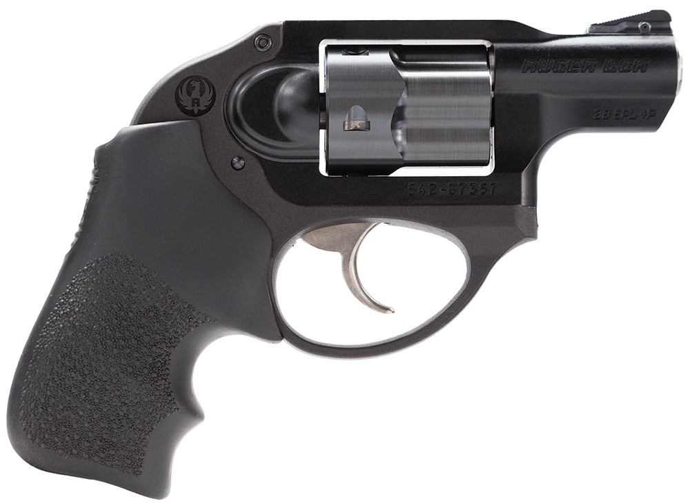 "Ruger 5401 LCR Double 38 Special +P 1.87"" 5 rd Black Hogue Tamer Monogrip Grip Black"