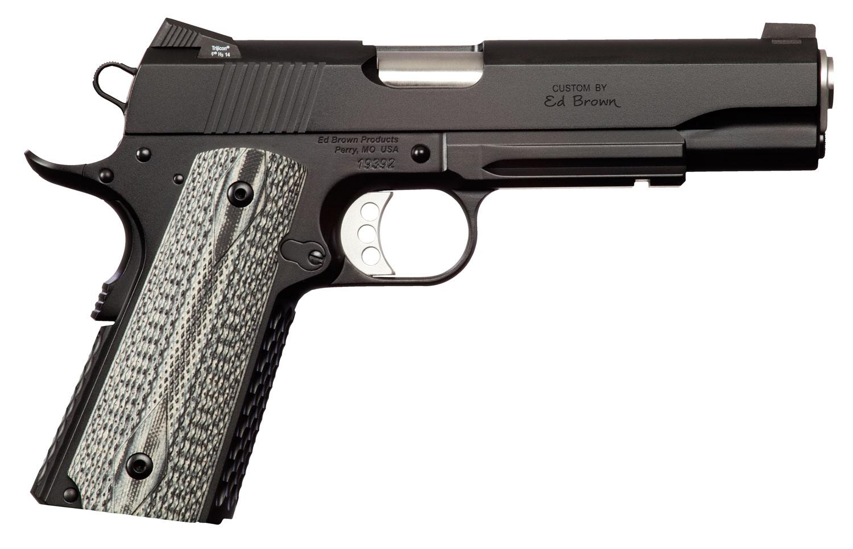 "Ed Brown AESSG4LR Alpha Elite Gen4 with Light Rail Single 45 Automatic Colt Pistol (ACP) 5"" 7+1 Black Polymer Grip Black Stainle"